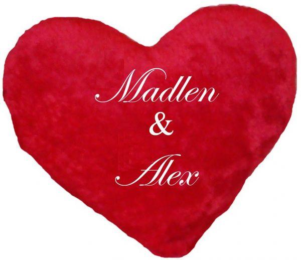 Riesen Herzkissen für Paare mit Namen