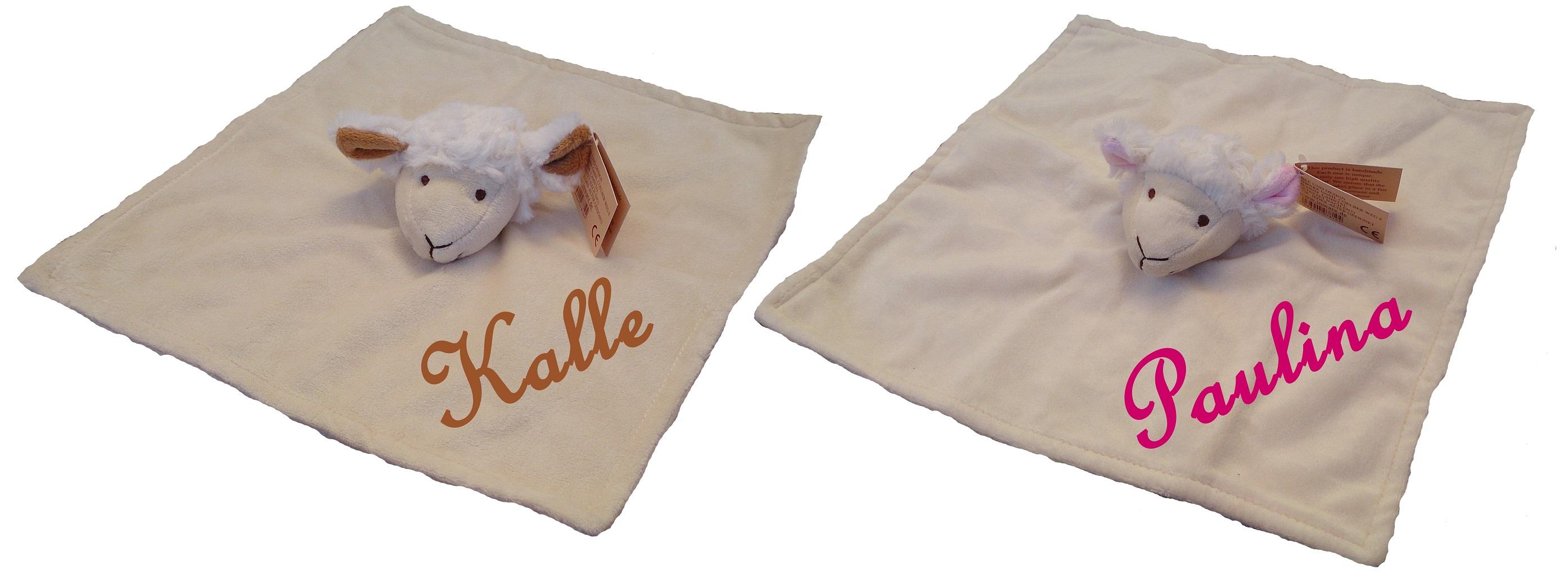 Baby Kinder Waschlappen lachender Stern mit Namen bestickt Handtuch Schmusetuch