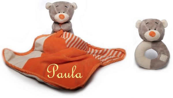 Baby Kuscheltuch Teddy mit Namen