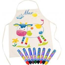Kinder Koch / Werkenschürze mit Namen inkl. Stifte zum Anmalen