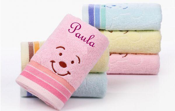 Kinder Handtuch Teddy mit Namen bestickt