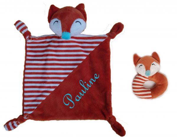 Baby Kuscheltuch Fuchs mit Namen