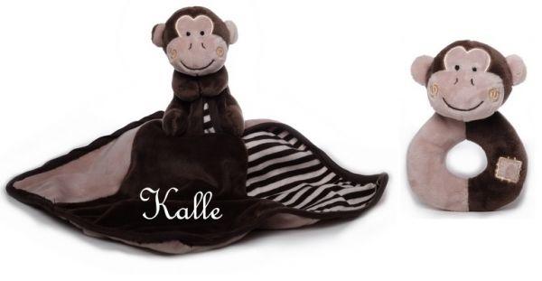 Baby Kuscheltuch Affe mit Namen